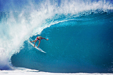 John John Florence backside barrell